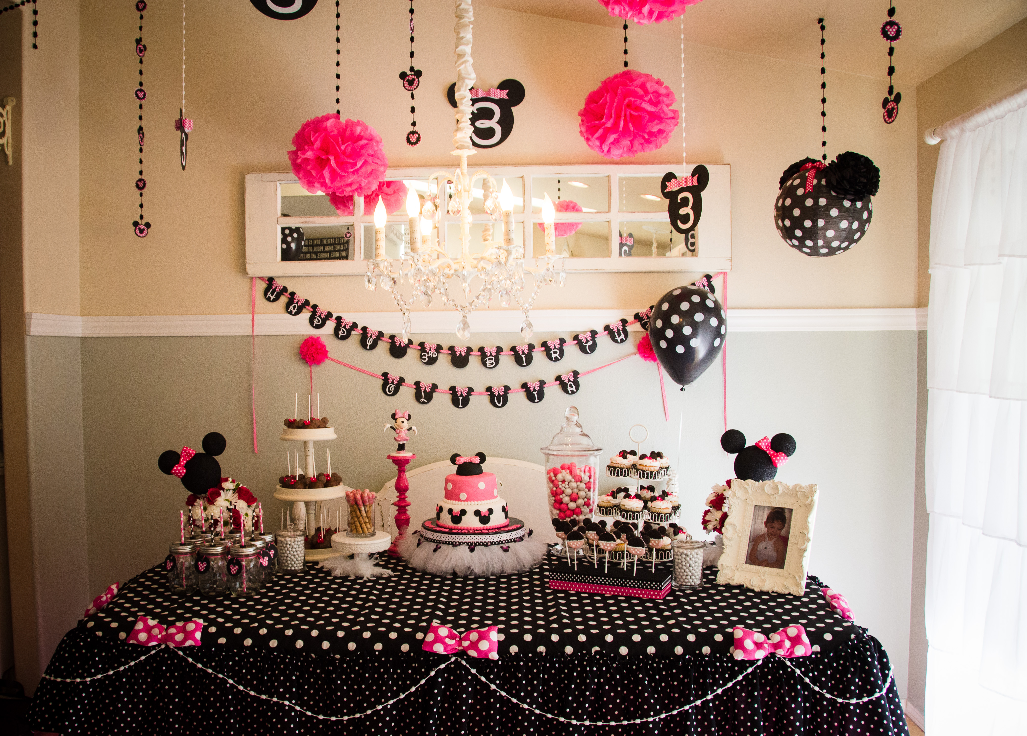 Minnie Mouse 3rd Birthday Party The Blessed Nest