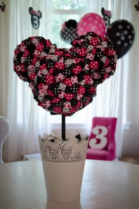 Minnie Mouse ribbon topiary
